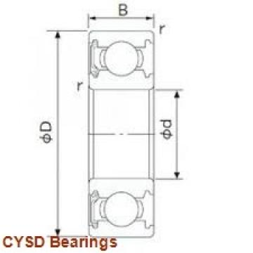 90 mm x 160 mm x 40 mm  CYSD NU2218E cylindrical roller bearings