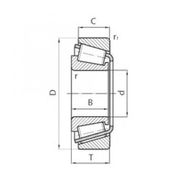 40 mm x 80 mm x 18 mm  CYSD 30208 tapered roller bearings