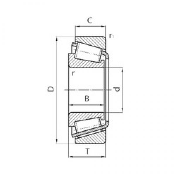 45 mm x 75 mm x 19 mm  CYSD 32009*2 tapered roller bearings #1 image